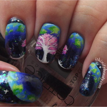The Life Tree nail art by Ithfifi Williams