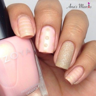 Subtle mix n match nail art by anas_manis