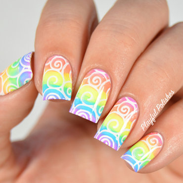 31DC2015: Day 9, Rainbow Nails nail art by Playful Polishes