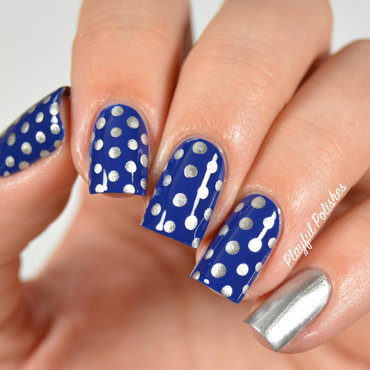 31DC2015: Day 11, Polka Dots nail art by Playful Polishes