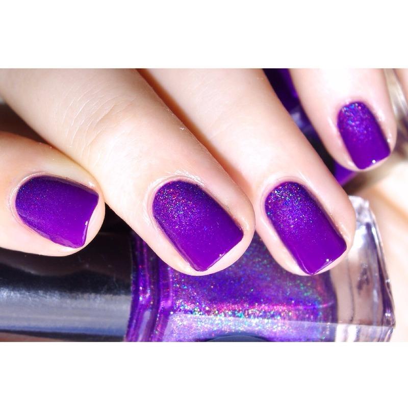 31DC2015 Violet Nails nail art by Bulleuw