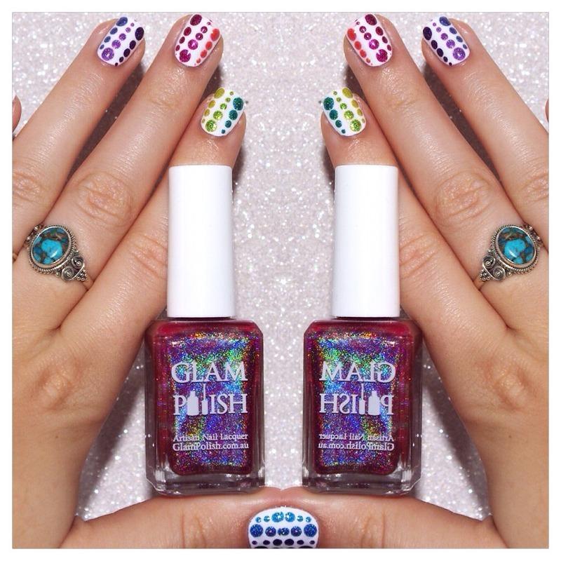 31DC2015 Rainbow Nails nail art by Bulleuw