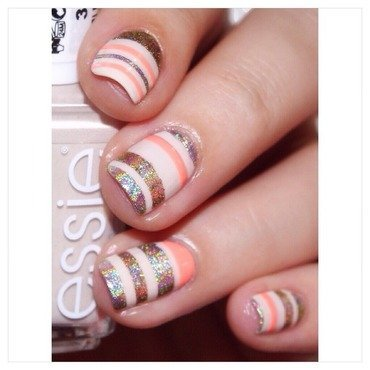 31DC2015 Stripes! nail art by Bulleuw