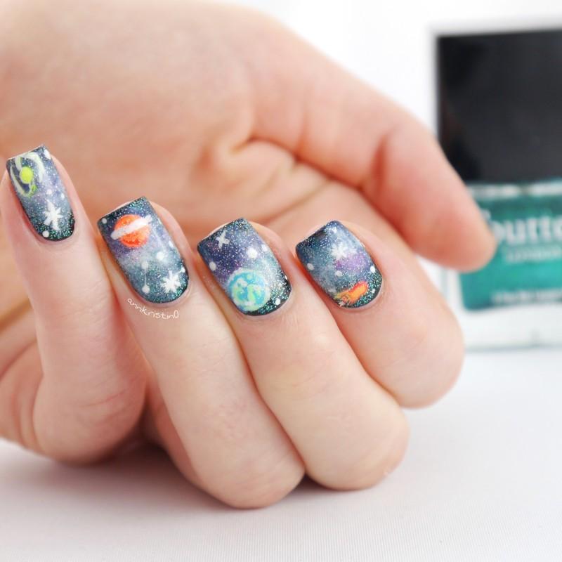 Most Amazing GALAXY NAILS nail art by Ann-Kristin