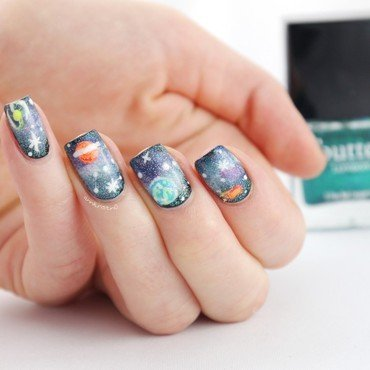 Most Amazing GALAXY NAILS nail art by Ann-Kristin
