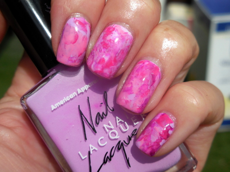 Pink Abstract nail art by Donner