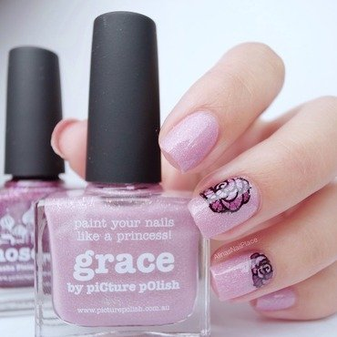 Grace-y nail art by Alina E.
