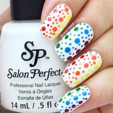 Rainbow Dotticure nail art by Beauty Intact