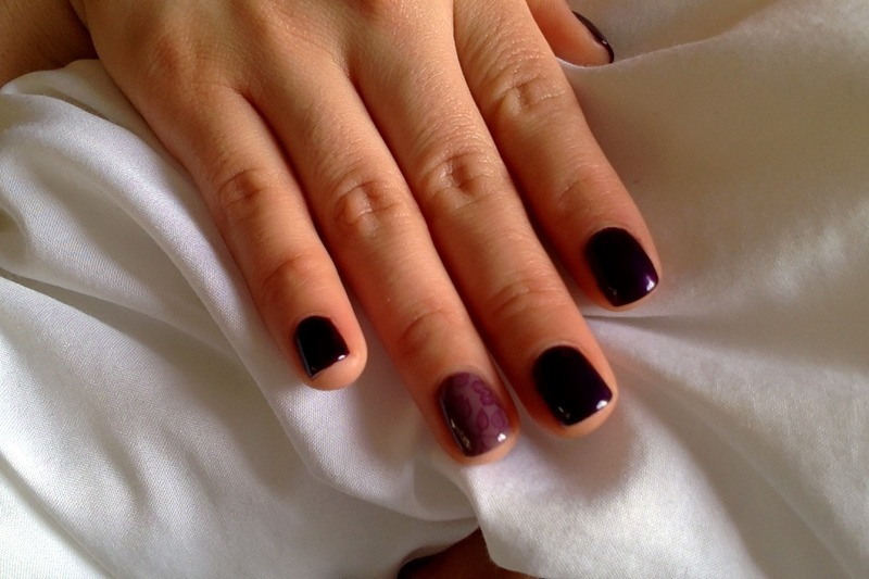 In purple nail art by Ro Ags