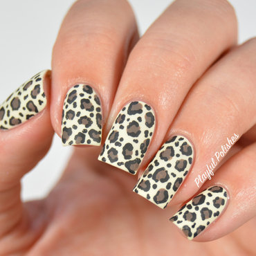 31DC2015: Day 13, Animal Print nail art by Playful Polishes