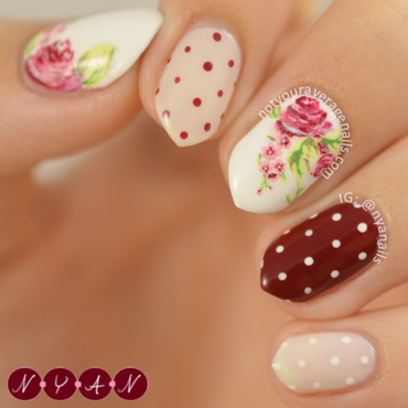 Rose To The Ocassion nail art by Becca (nyanails)