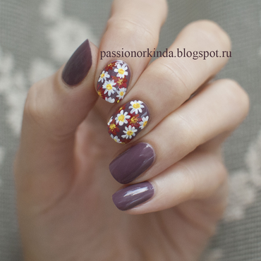 Autumn bouquet nail art by Passionorkinda