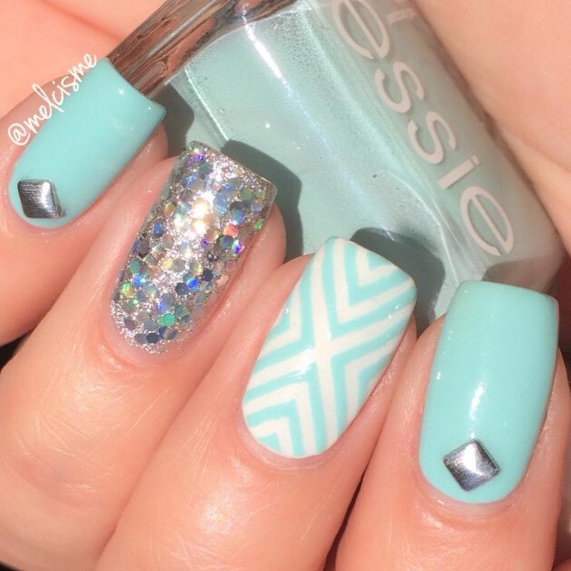 X design nail art by Melissa
