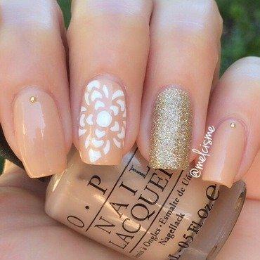 Henna Flower nail art by Melissa