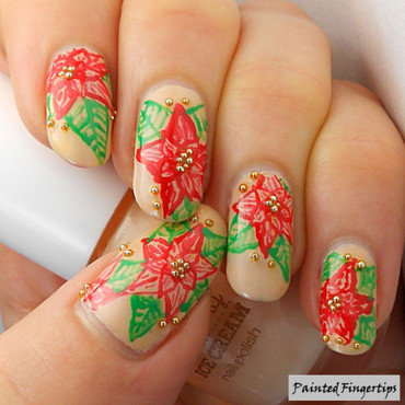 Poinsettia nail art 644x644 thumb370f