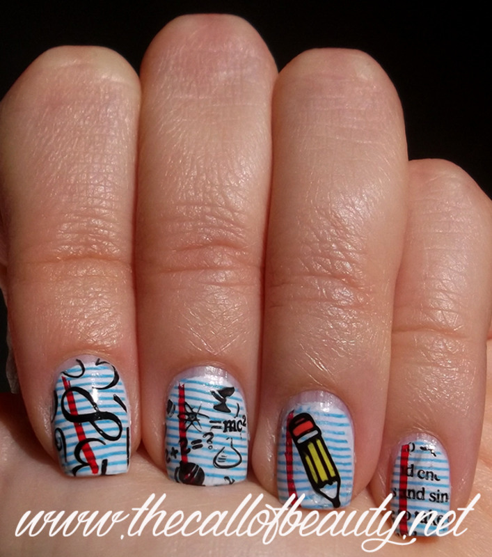 Back to School nail art by The Call of Beauty