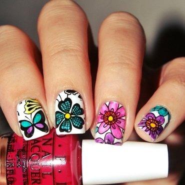 [#31DC2015] Flowers nail art by Lackopfer