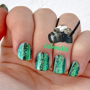Emerald forest nail art by LOreeNA