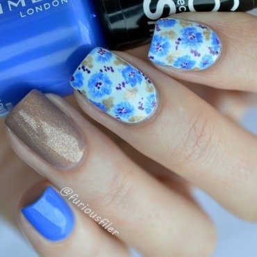 31DC2015 flowers nail art by Furious Filer