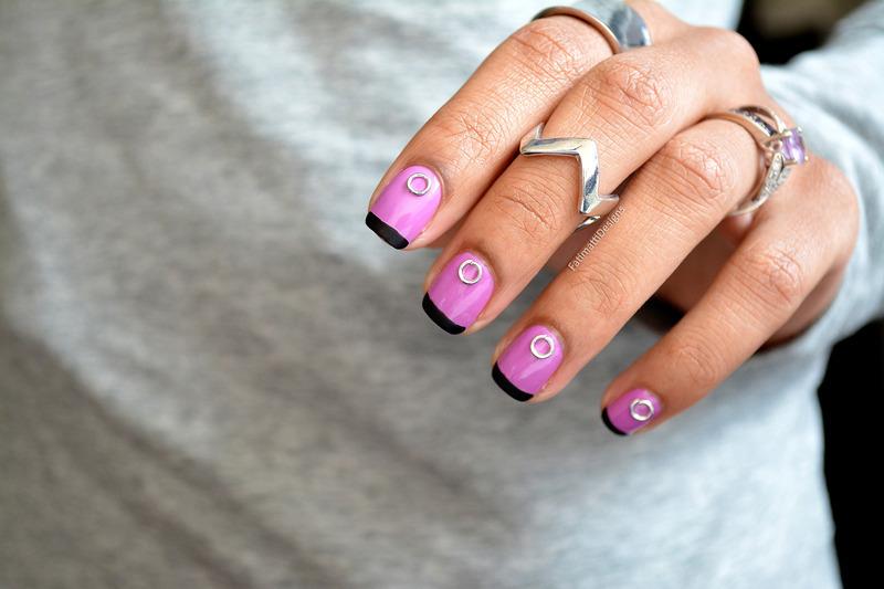 Matte French nail art by Fatimah