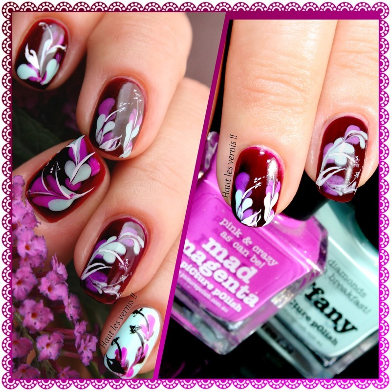 Flower power nail art by Elodie Mayer