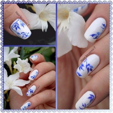 Porcelain nail art by Elodie Mayer