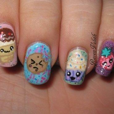 Cutie Pastel Desserts nail art by Lynni V.