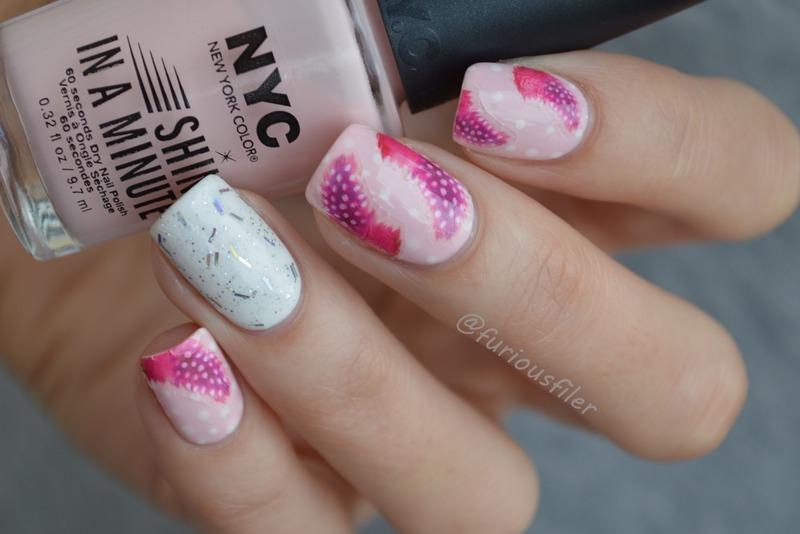 31dc2015 Delicate Print nail art by Furious Filer