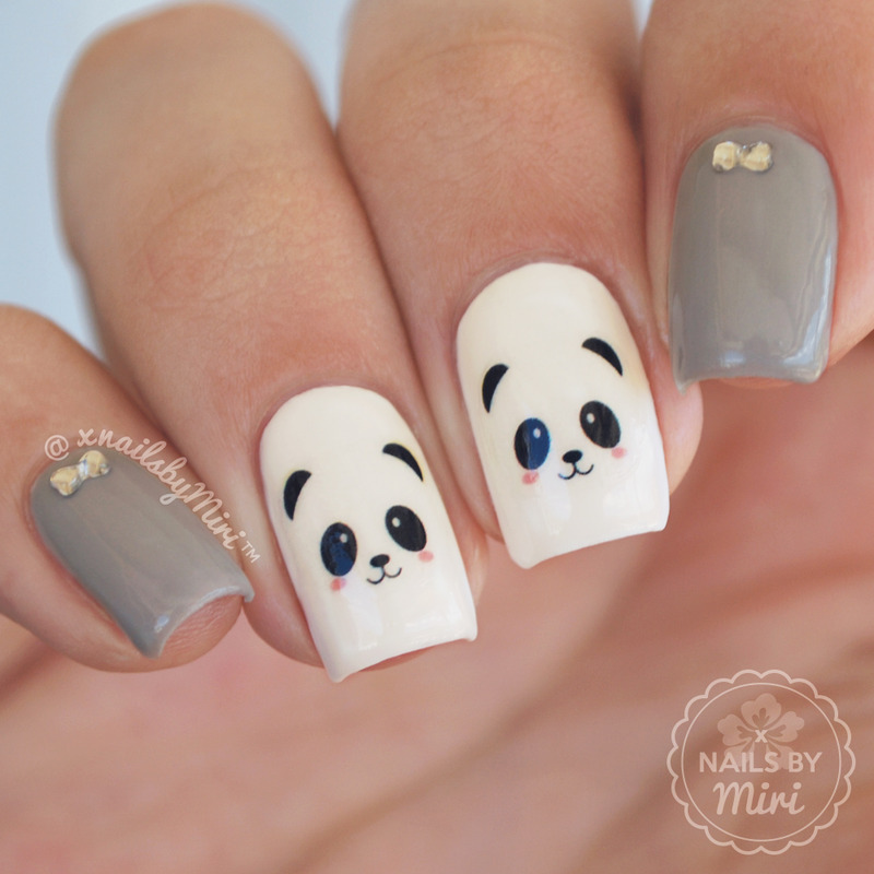 Cute Panda Nails Nail Art By XNailsByMiri