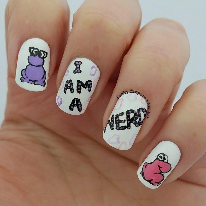 nerdy nails nail art by Funky fingers nail art