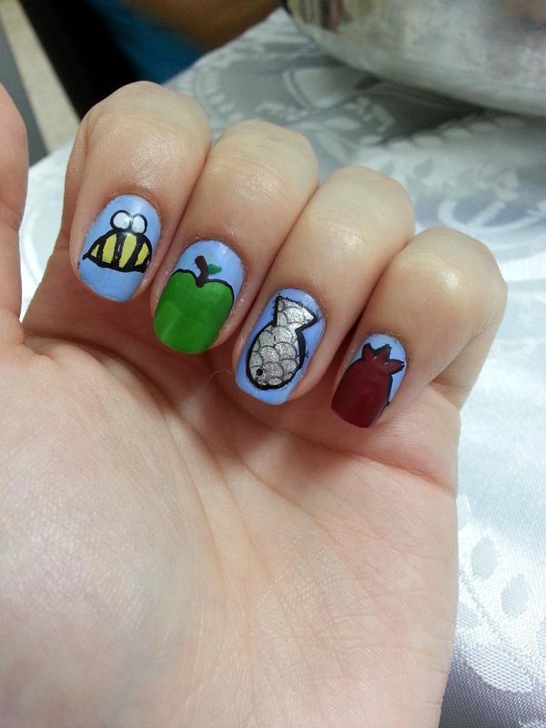 rosh hashana nails nail art by Maya Harran