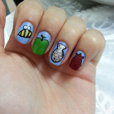 rosh hashana nails nail art by Maya Harran