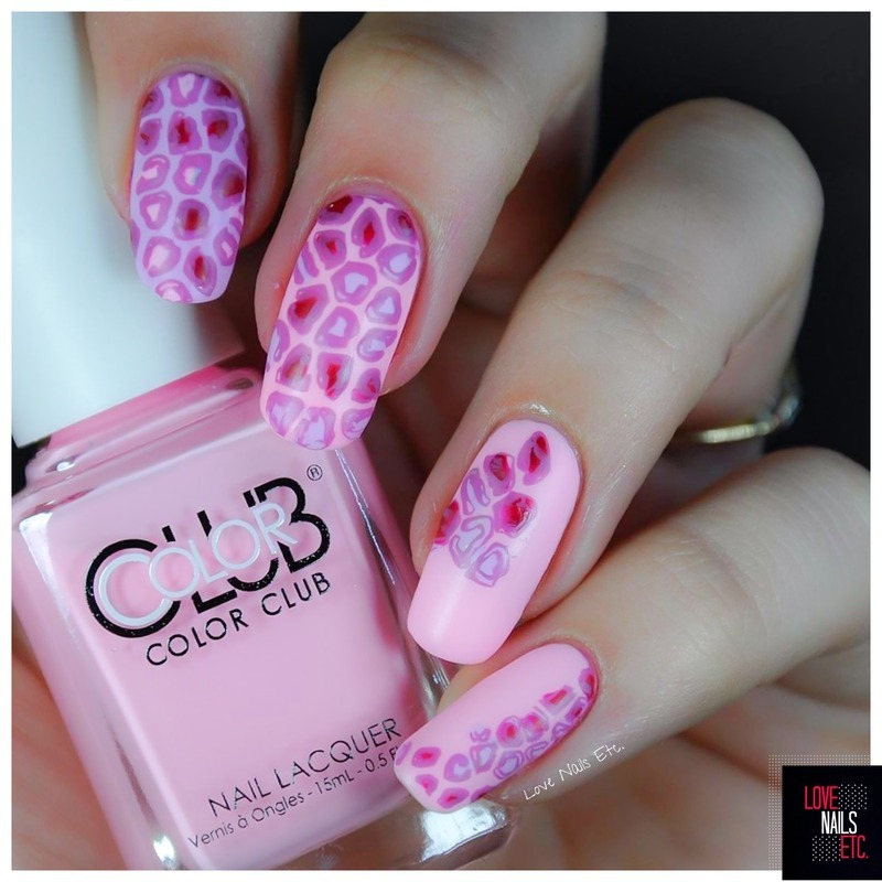Pink & purple Leopard nail art by Love Nails Etc