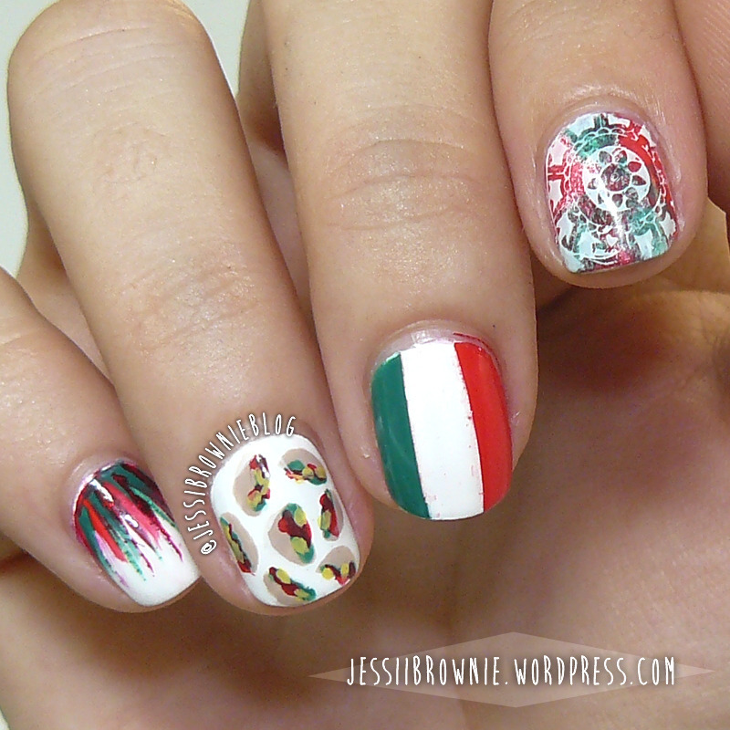 Viva Mexico! nail art by Jessi Brownie (Jessi)