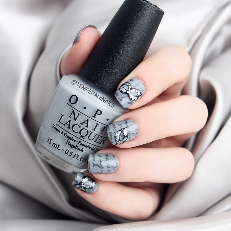 50 shades nail art by Temperani Nails
