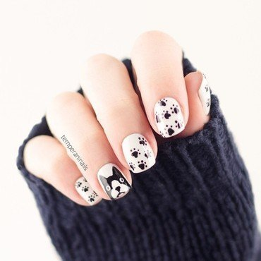 Dog nail art and swatches nailpolis museum of nail art dog nail art by temperani nails prinsesfo Gallery