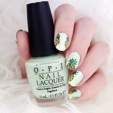 Pineapple nail art by Temperani Nails