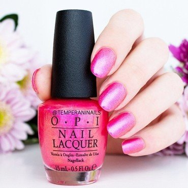 OPI Can't Hear myself Pink Swatch by Temperani Nails