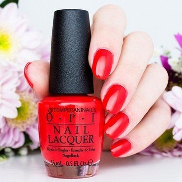 OPI I STOP for Red Swatch by Temperani Nails