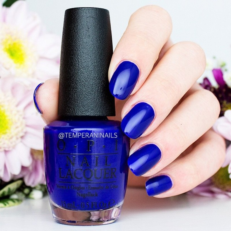 OPI My Car has Navy-gation Swatch by Temperani Nails