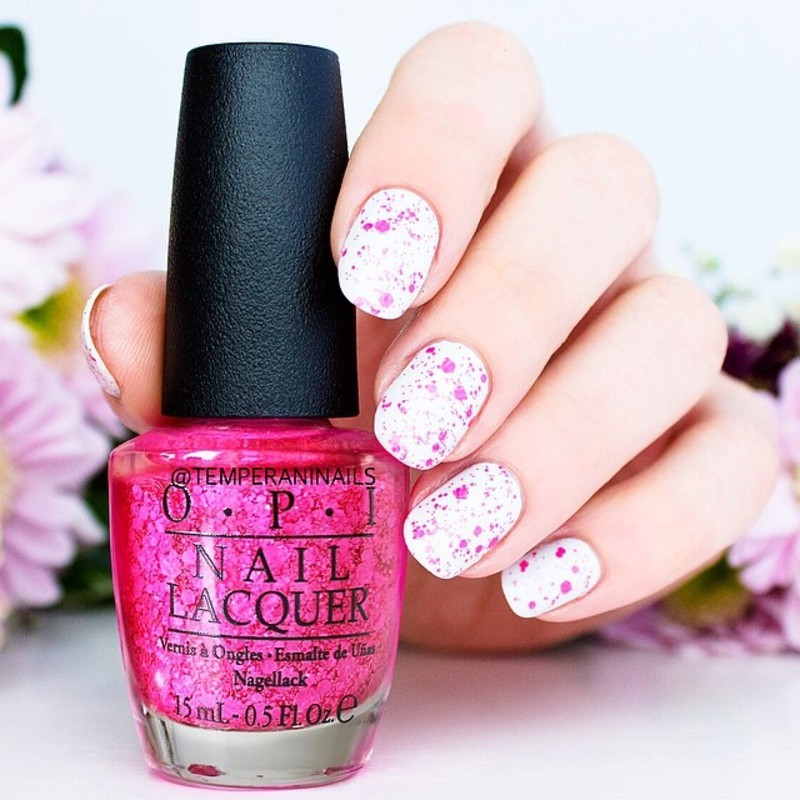 OPI My Boyfriend Scales Walls and OPI On Pinks and Needles Swatch by Temperani Nails