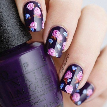A Grape Affair nail art by Temperani Nails