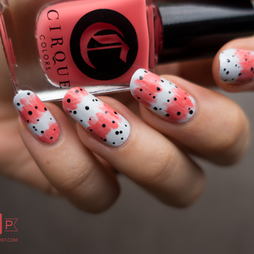Manucure pois et rayures nail art by Kate C.