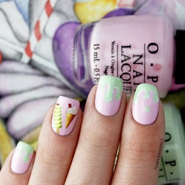 Ice cream nail art by Temperani Nails