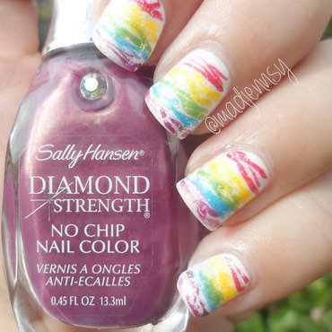 Rainbow Spun Sugar Nails!  nail art by madjennsy Nail Art