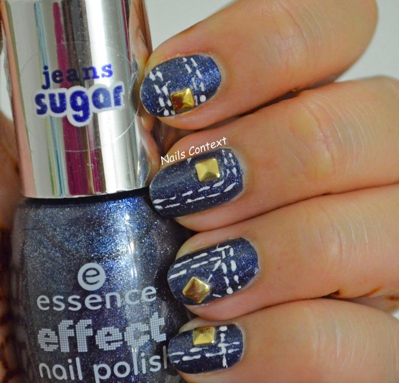 Denim Nails nail art by NailsContext