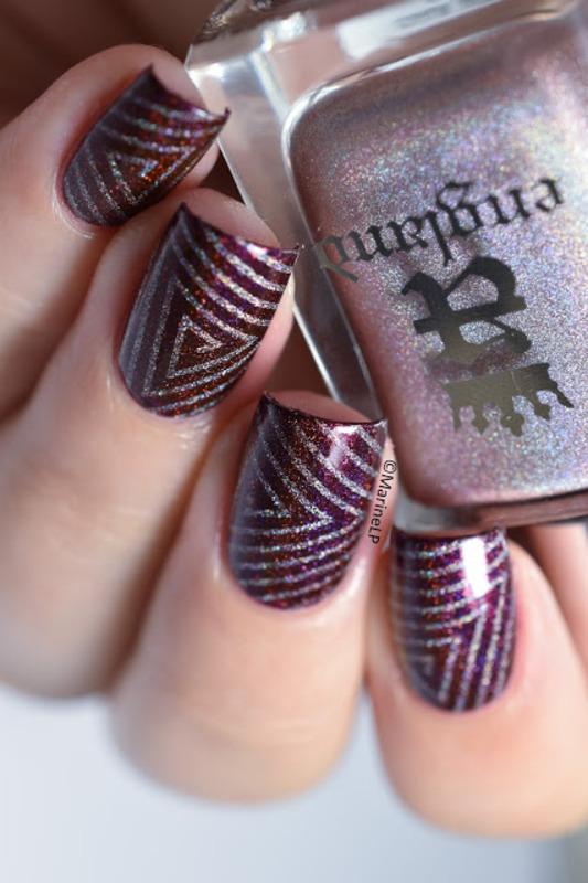 Hypnotic triangles nail art by Marine Loves Polish