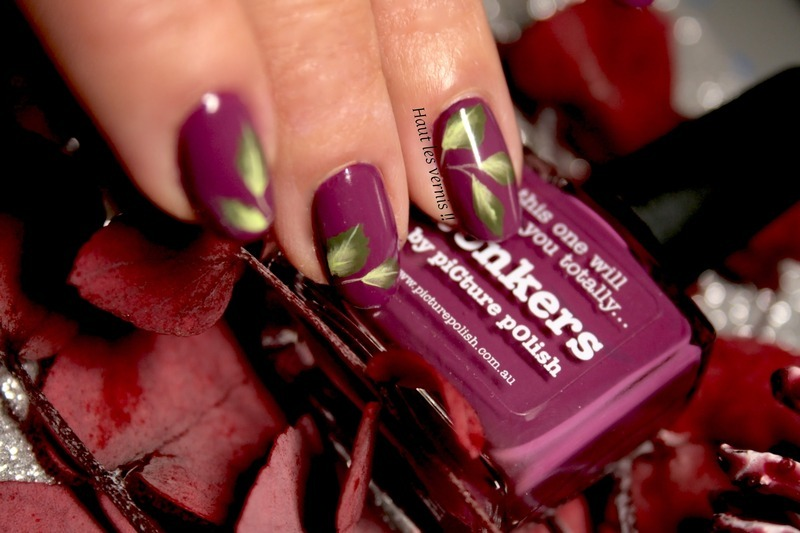 Fall nail art by Elodie Mayer