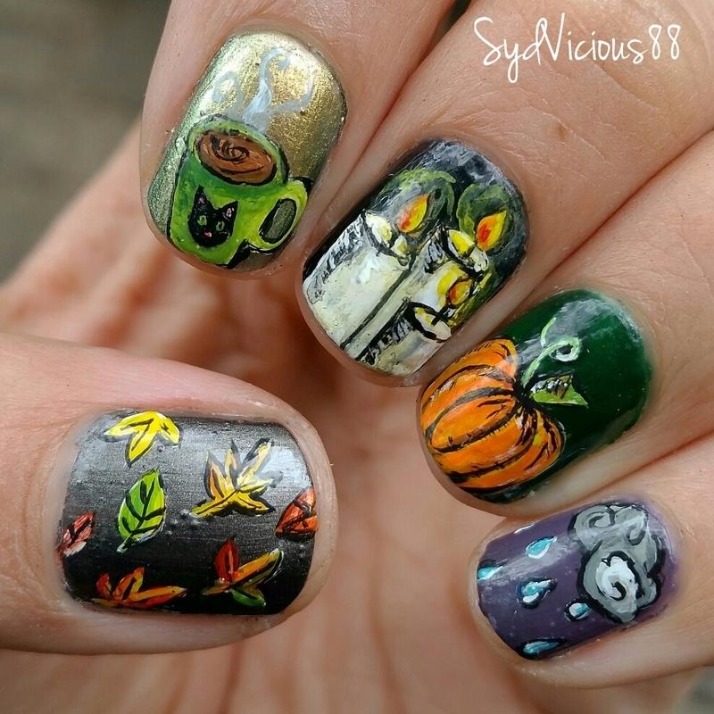 Fall things nail art by SydVicious