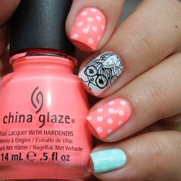 Sweet Girl nail art by Carolina Garcia